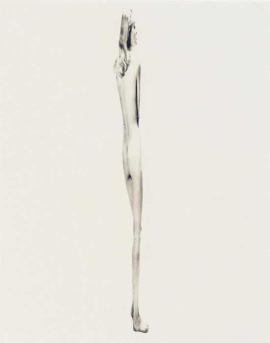 Erwin Blumenfeld. Hommage à Giacometti 1955  Via invaluable