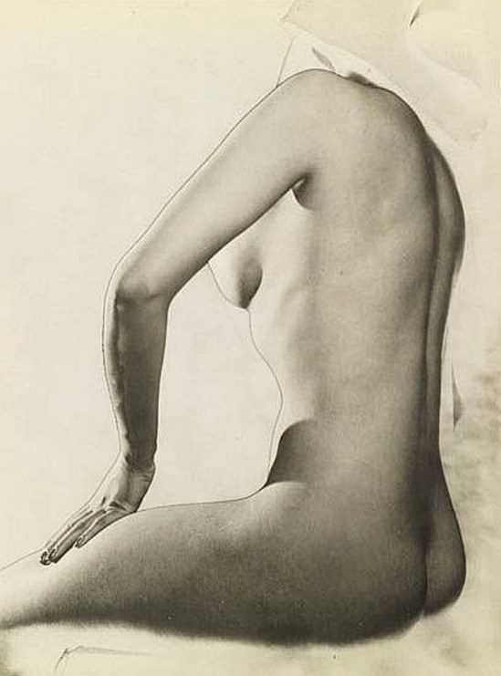 Erwin Blumenfeld. Solarized nude 1943Via invaluable