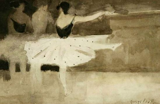 George Bottini. Danseuses à la barre vers 1897