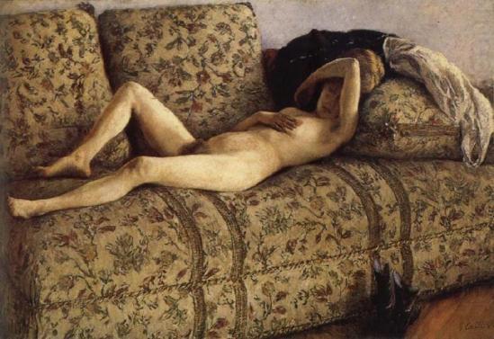 Gustave Caillebotte. Nu au divan 1880