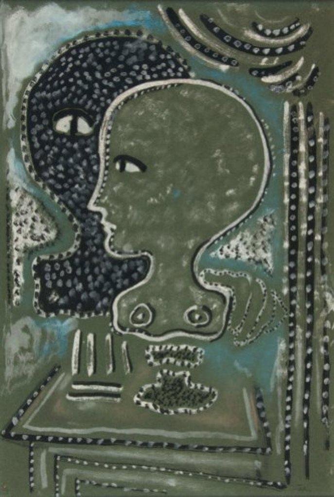Jean Cocteau. Femme de profil. Gouache Via drouot