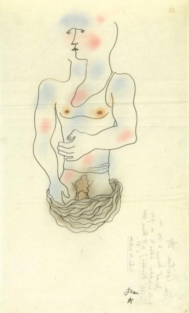 Jean Cocteau. Frontispice pour le Livre blanc 1930 Via drouot