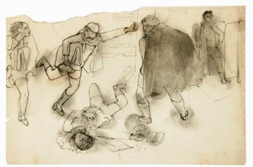 Jean Cocteau. Les enfants terribles. Dessin  à l'encre et lavis 1931 Via drouot