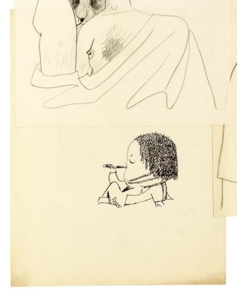 Jean Cocteau. Les Eugènes ou personnage fumant Via drouot