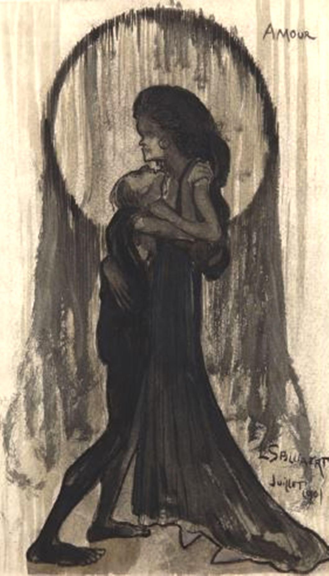 Léon Spilliaert. Amour 1901