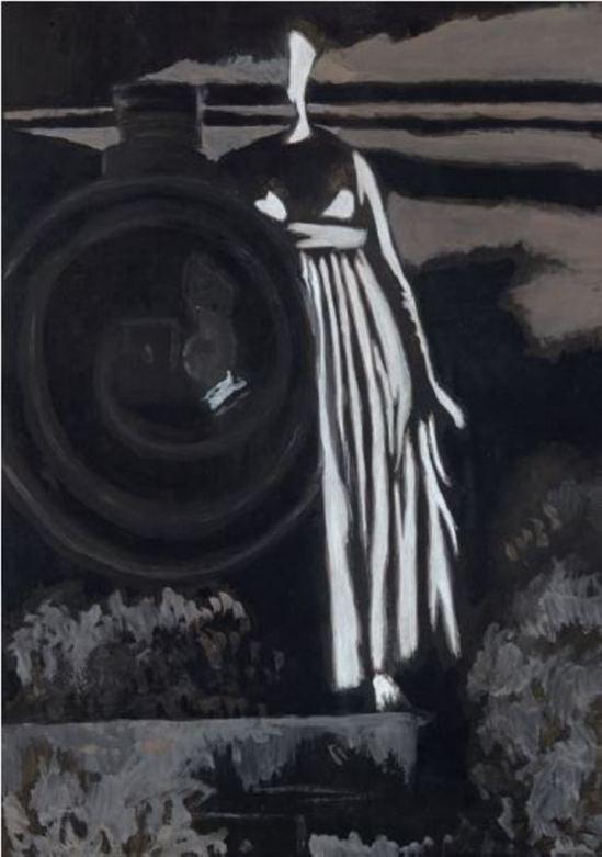 Léon Spilliaert. Aurore, femme et locomotive 1925