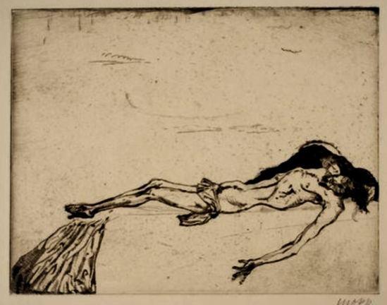 Max Oppenheimer. Pieta 1911. Etching