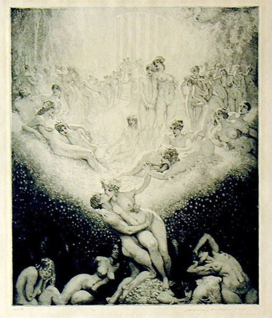 Norman Lindsay. Love on earth 1925
