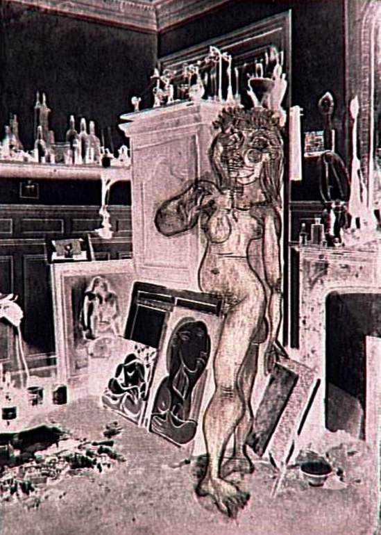 Pablo Picasso. Nu dans l'atelier, IIeme état 1937. Estampe