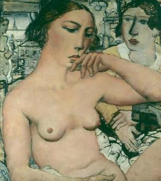 Paul Delvaux. Young woman dreaming 1931