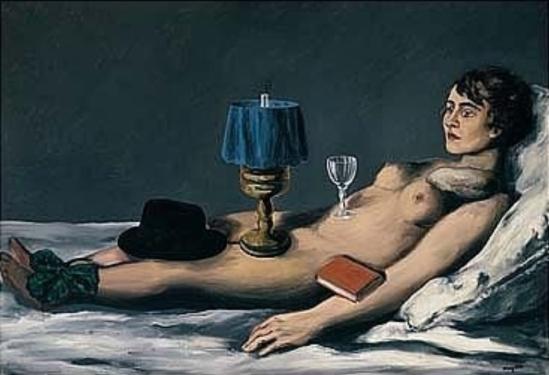 René Magritte. Le nu couché 1928