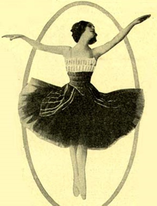 Anna Pavlova 1910 for anadvertisement in period US magazine Via wikimedia