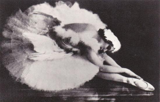 Anna Pavlova dying swan old Russian Soviet postcard Via ebay