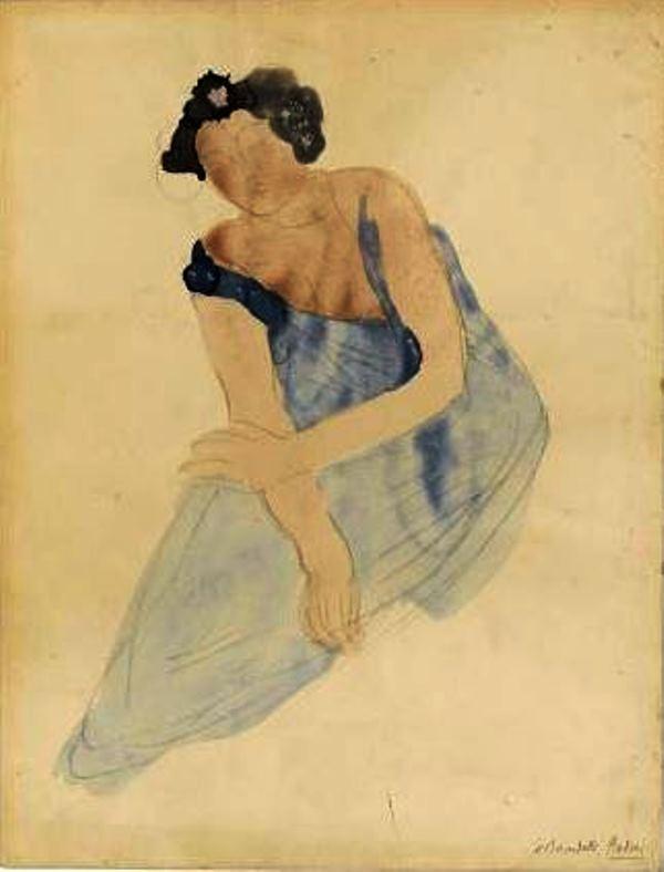 Auguste Rodin. Femme assise en bleu