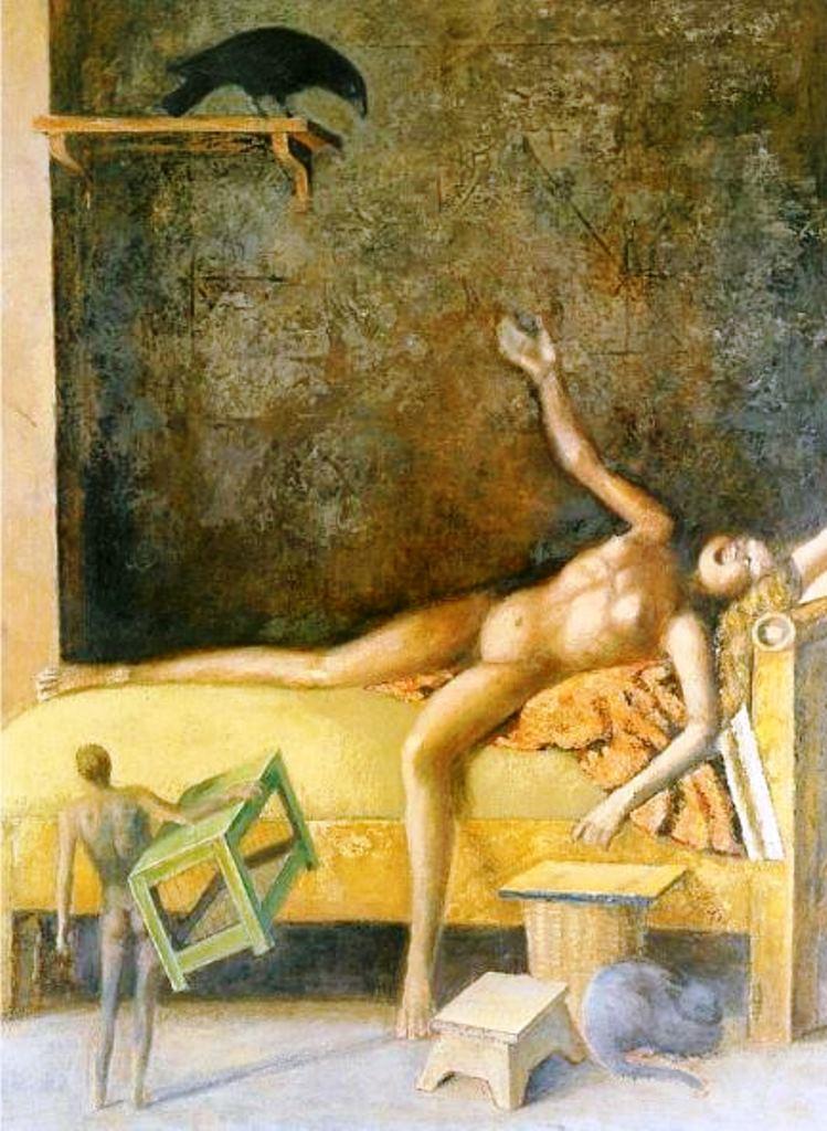 Balthus. Composition avec un corbeau 1985