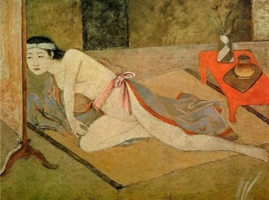 Balthus. Japanese girl with by the red table 1967