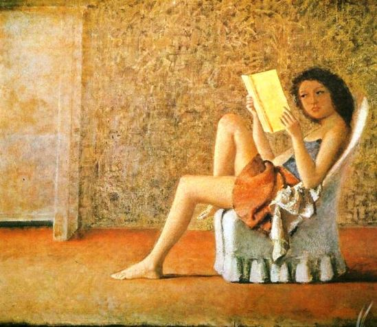 Balthus. Katia reading 1974