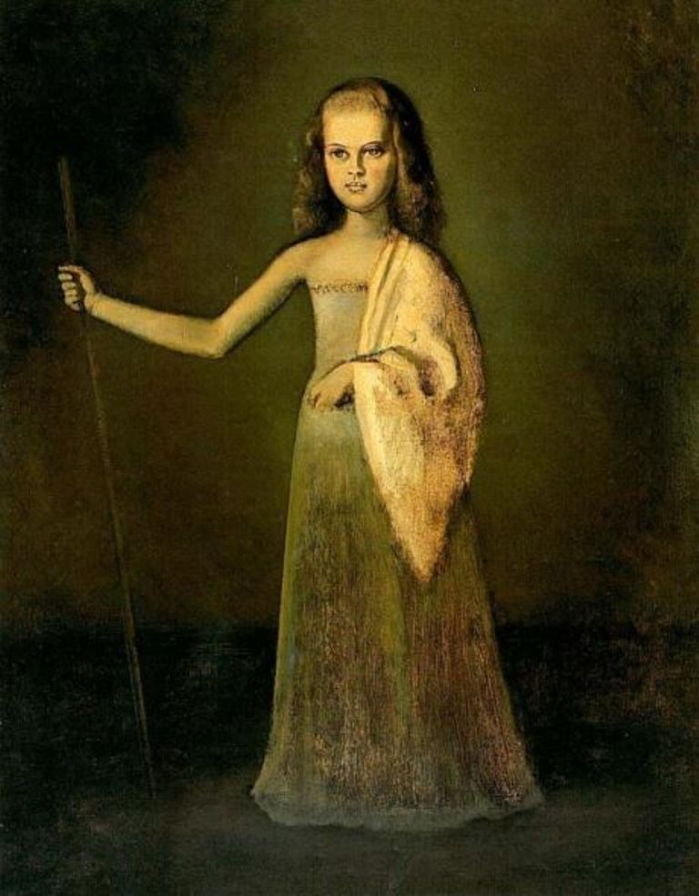 Balthus. La princesse Maria Volkonsky à l'âge de 12 ans 1945