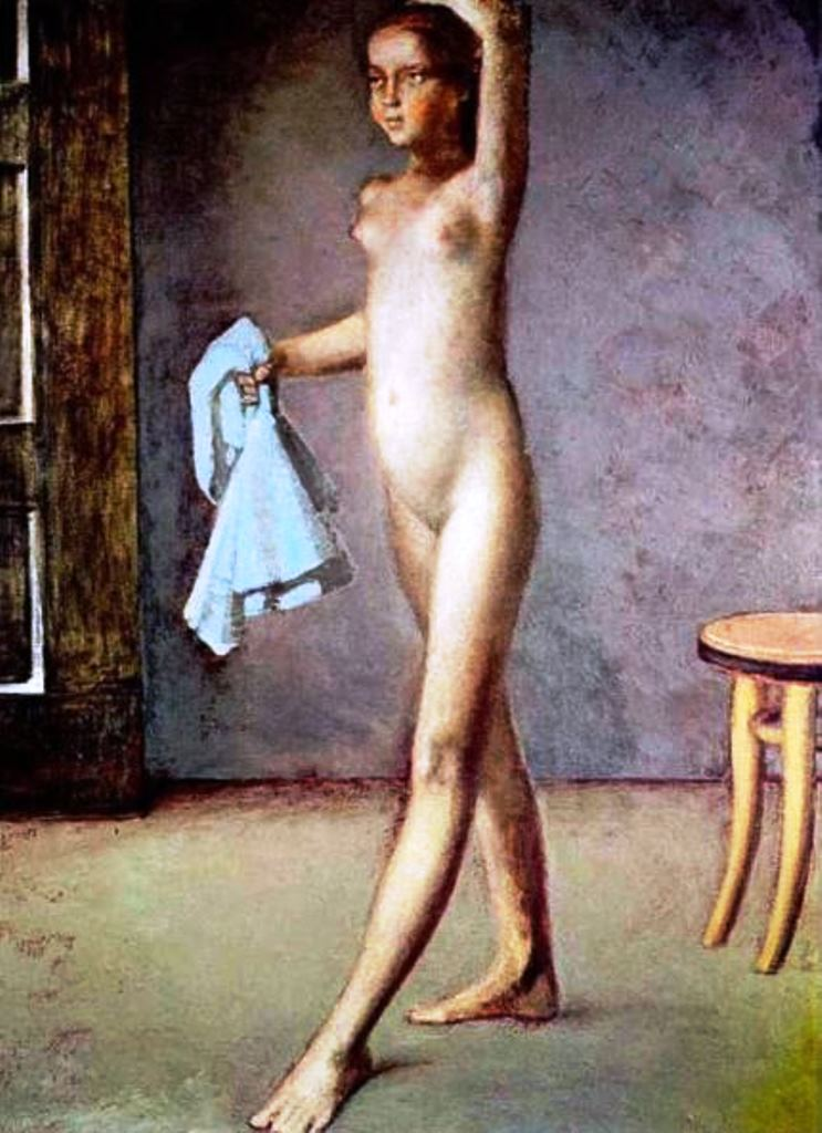 Balthus. Nude with a silk scarf 1982