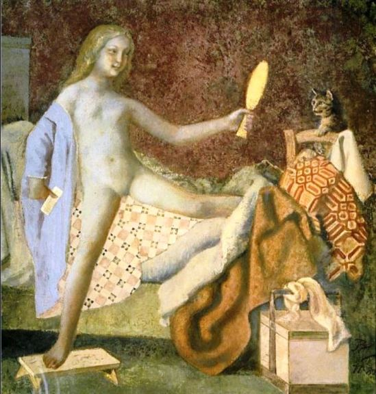 Balthus. The cat in the mirror 1978