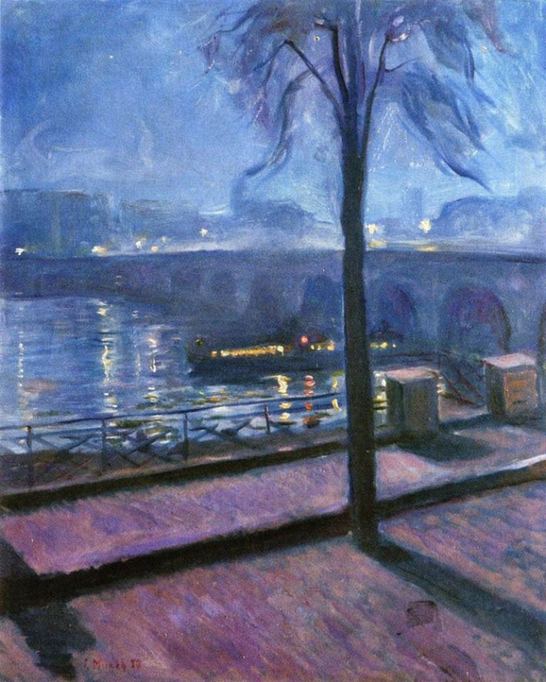 Edvard Munch. Night in Saint-Cloud 1890