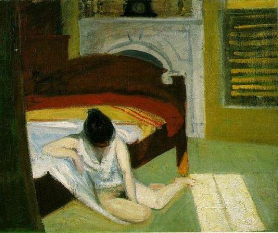 Edward Hopper. Summer interior 1909