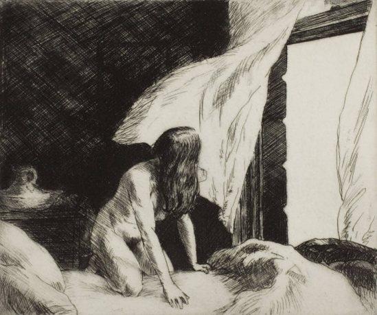 Edward Hopper. The evening wind 1921