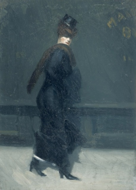 Edward Hopper. Woman walking 1906