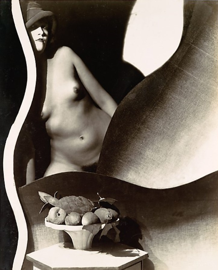 Frantisek Drtikol. Nude with Hat and Bowl of Artificial Fruits, Posed amongst Undulating Stage Props 1920 Via metmuseum