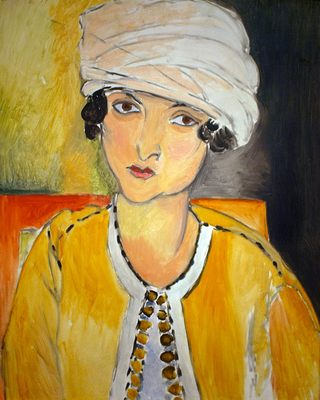 Henri Matisse. Laurette au turban blanc et veste jaune