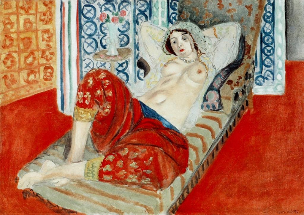 Henri Matisse. L'odalisque à la culotte rouge 1921