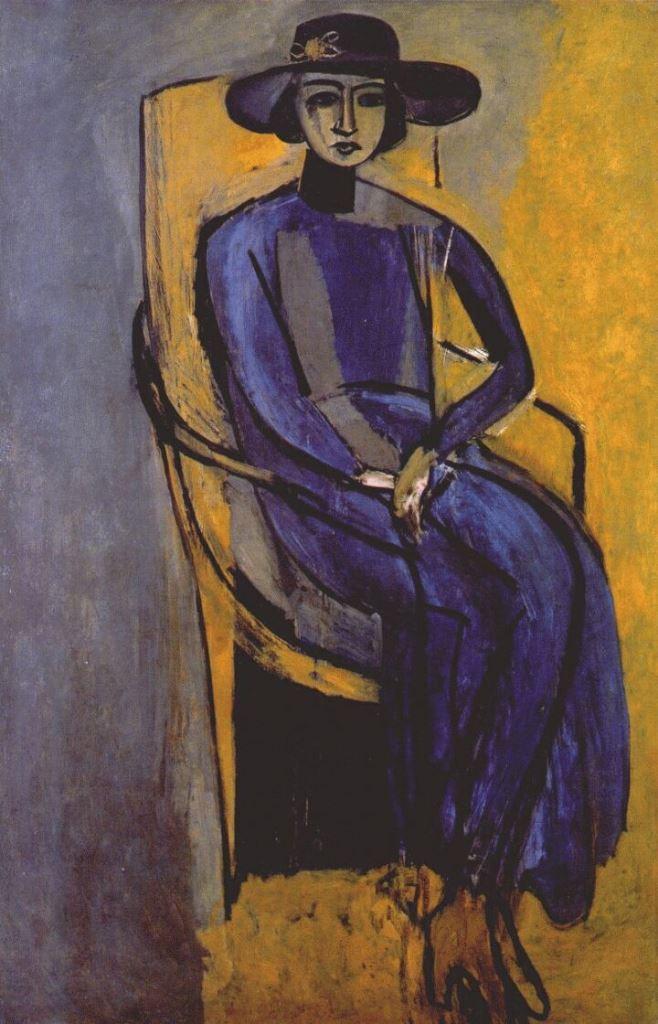 Henri Matisse. Portrait de Greta Prozor 1916