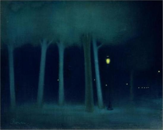József Rippl-Rónai. A park at night 1895