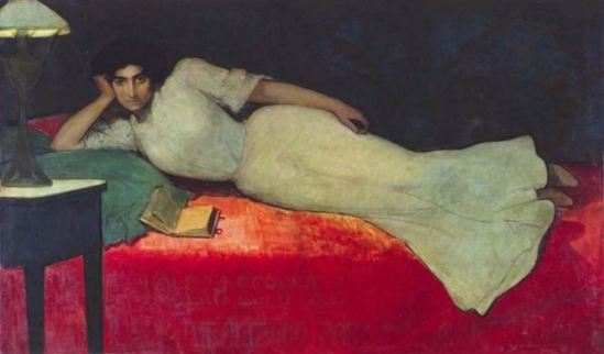 Julio Romero de Torres.  Reading  1901