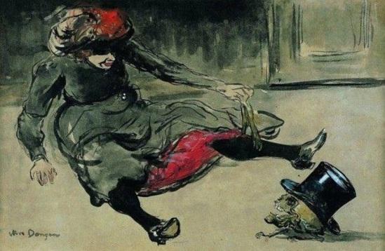 Kees van Dongen. Absinthe drinker on a street 1902