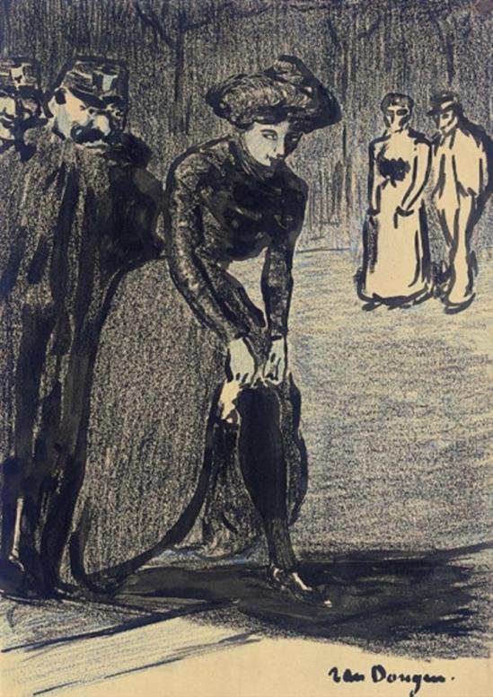 Kees van Dongen. Femme ajustant ses bas