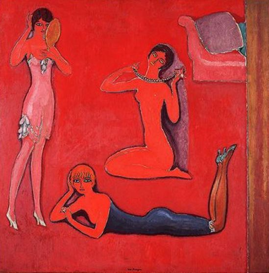 Kees van Dongen. Melle Miroir, Melle Collier, Melle Sopha  vers 1918-1925