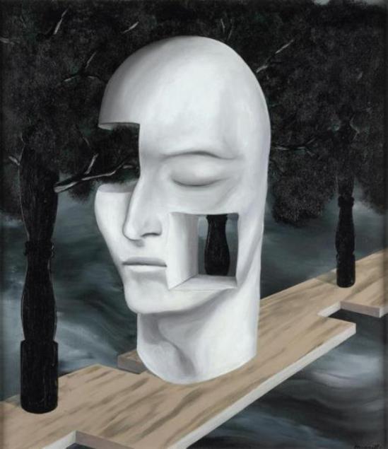 René Magritte. Le Visage du génie 1926  (Bruxelles, musée D'Ixelles)