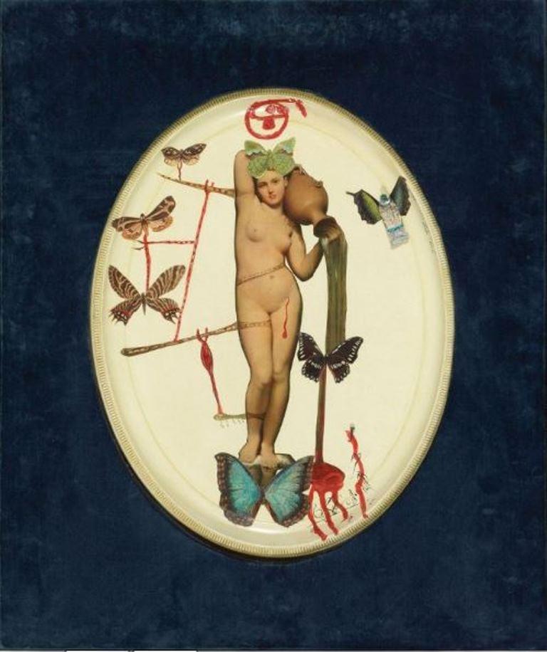 Salvador Dali. La Vénus aux béquilles 1964. Collage Via drouot