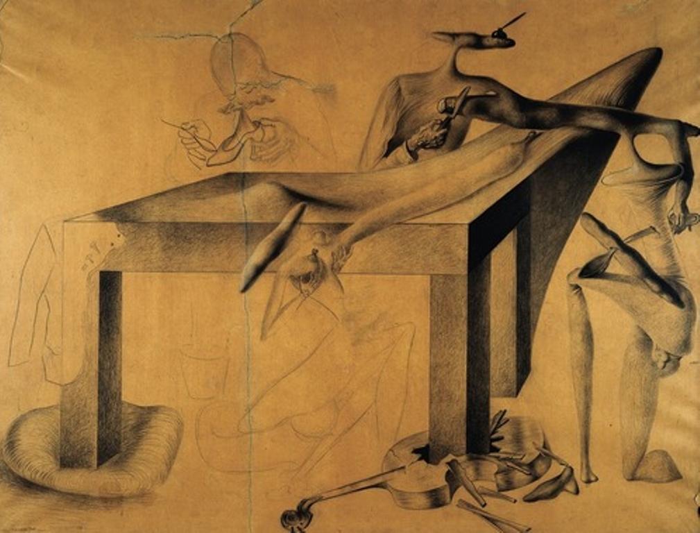 Salvador Dali. Le Cannibalisme des objets, avec écrasement simultané d'un violoncelle 1932