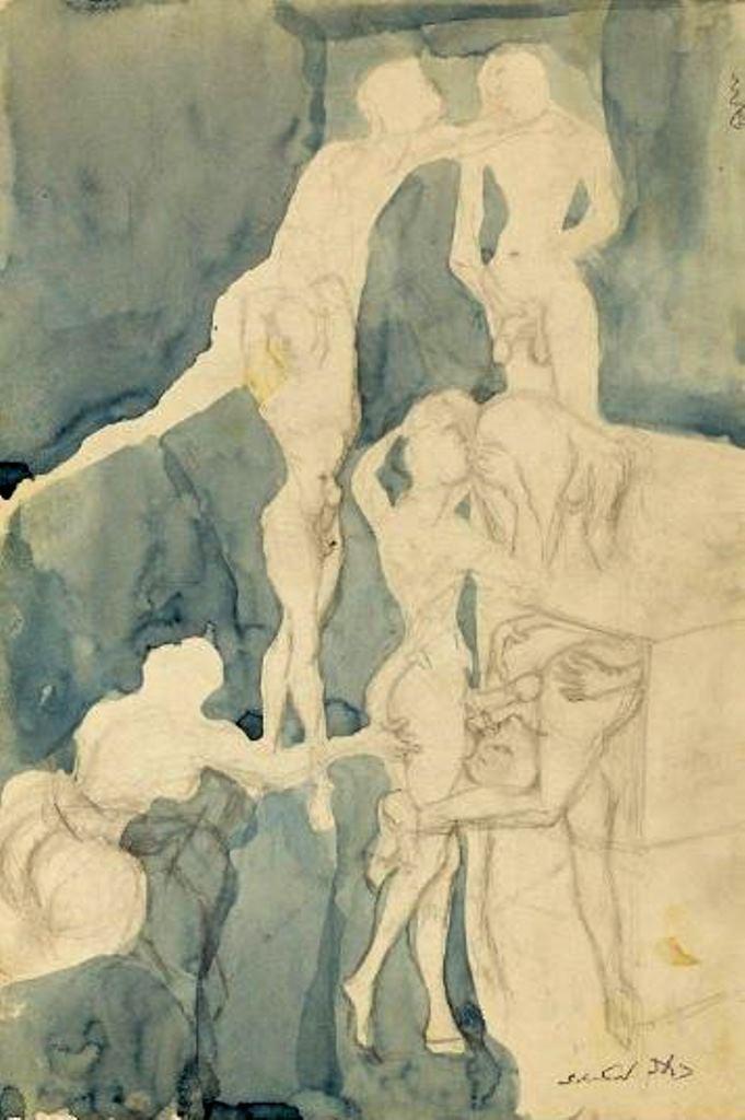 Salvador Dali. Scène érotique Via drouot
