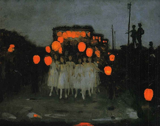 Thomas Cooper Gotch. Lantern parade 1918