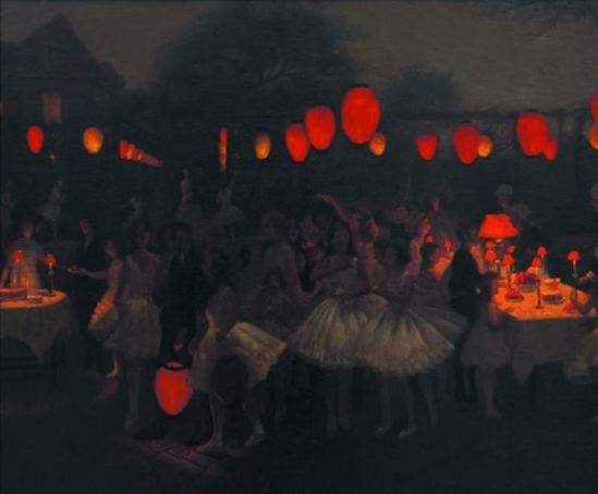 Thomas Cooper Gotch. Study for the birthday party vers 1930