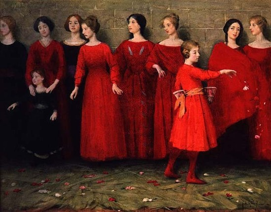 Thomas Cooper Gotch. They come