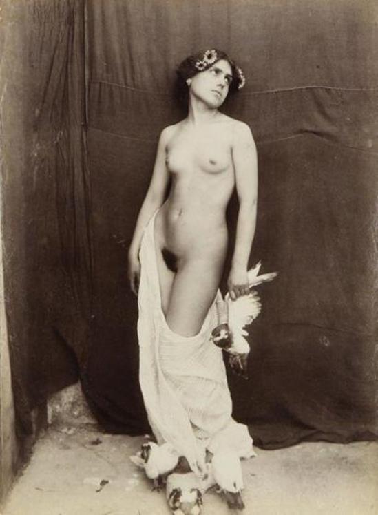 Vincenzo Galdi. Nu féminin aux oiseaux 1900 Via ader.fr