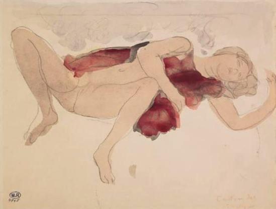 Auguste Rodin. Femme demi-nue, jambes écartées 1900