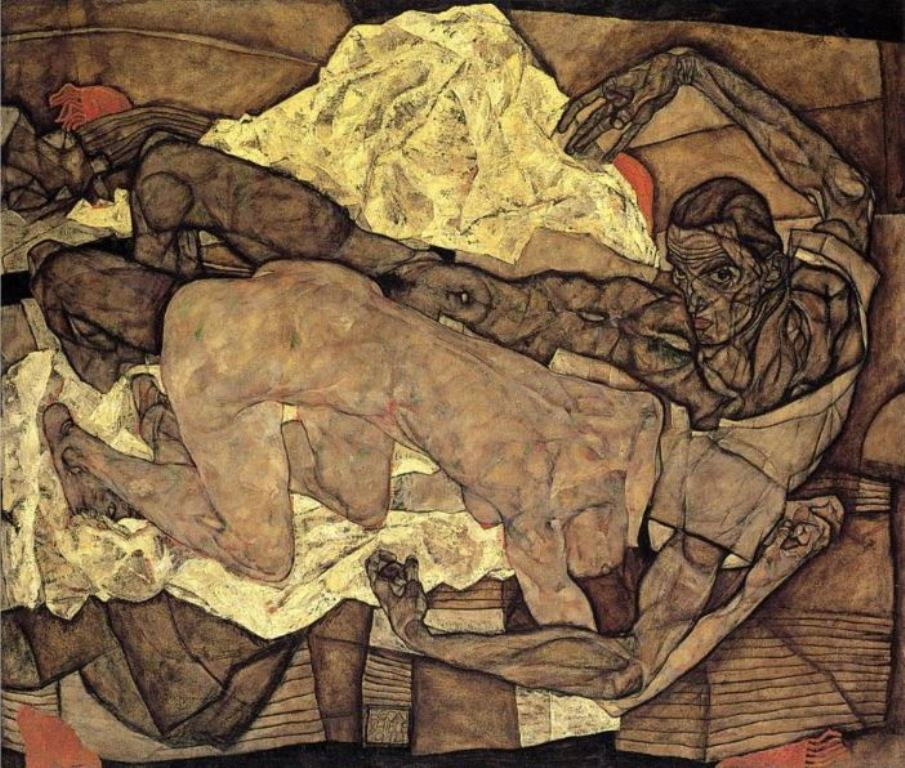 Egon Schiele. Couple d'amants 1914