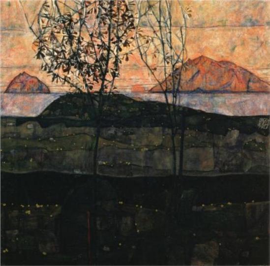 Egon Schiele. Setting sun 1913