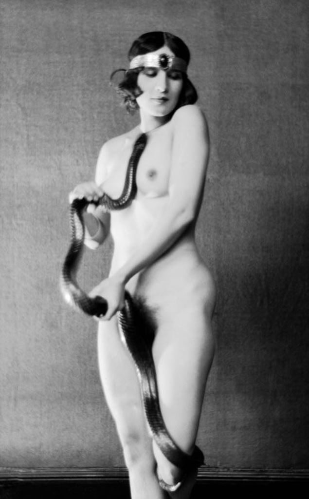 Emil Otto Hoppé. Mrs. Diana Verne. Dancer with snake 1922 Via eohoppe.com
