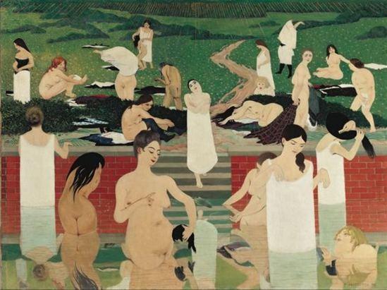 Félix Vallotton. Le bain au soir d'été 1892-1893